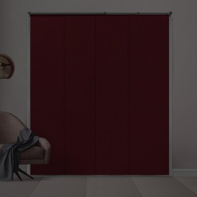 Silberman Adjustable Blackout Vertical Blind Color: Ruby