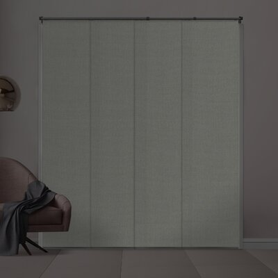 Silberman Adjustable Blackout Vertical Blind Color: Porcelain