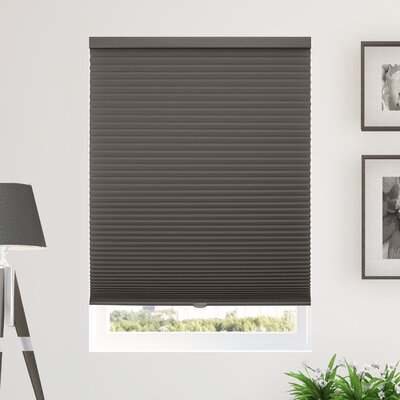 Silcox Cordless Semi-Sheer Cellular Shade Blind Size: 72 W X 64 L, Color: Gray