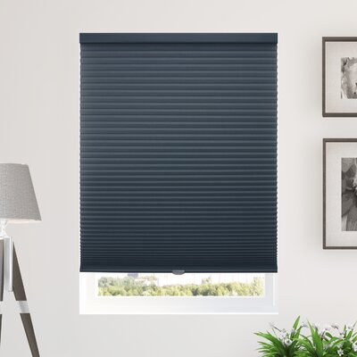 Silcox Cordless Semi-Sheer Cellular Shade Blind Size: 54 W X 48 L, Color: Navy