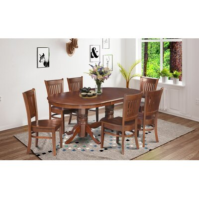 Crigler 7 Piece Dining Set Color: Brown
