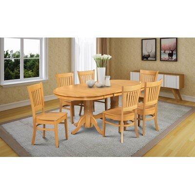 Crigler 7 Piece Dining Set Color: Oak Color