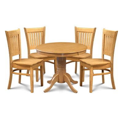 Miriam 5 Piece Extendable Breakfast Nook Dining Set