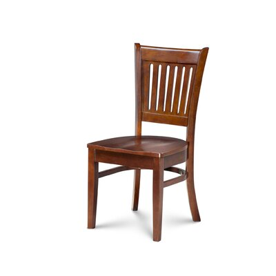 Miriam Solid Wood Dining Chair Color: Brown