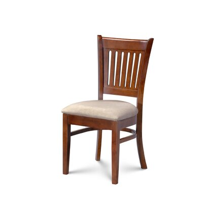 Miriam Upholstered Dining Chair Color: Brown