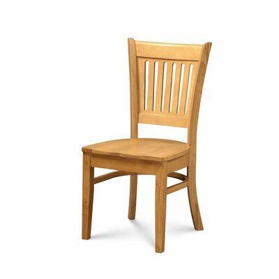 Miriam Solid Wood Dining Chair Color: Oak