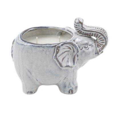 LUX Ceramic Elephant Ocean Breeze Scent Jar Candle L2001