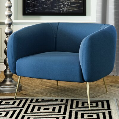 Salazar Barrel Chair Upholstery: Blue Lagoon