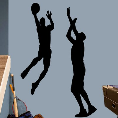 Harward 2 Piece Basketball Guys Wall Decal Set Color: Black F8E39992BF084BD1956ED4C05E4F143F