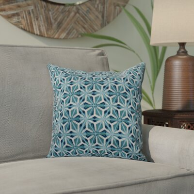 Viet Mosaic Throw Pillow Size: 18 H x 18 W, Color: Teal