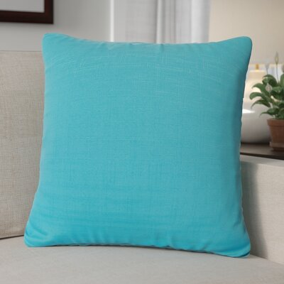 Black Raven Outdoor Throw Pillow Size: 26 H x 26 W x 6 D, Color: Turquoise