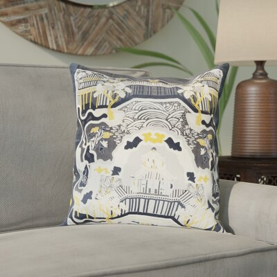 Alois 100% Silk Throw Pillow Cover Size: 18 H x 18 W x 0.25 D, Color: BlackBlue