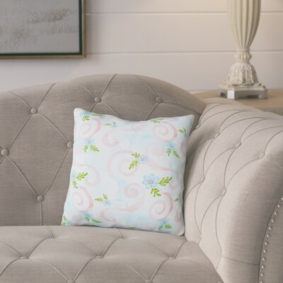 Navarre Flowers and Swirls Outdoor Throw Pillow