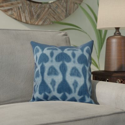 Viet Watermark Indoor/Outdoor Throw Pillow Size: 16 H x 16 W, Color: Blue
