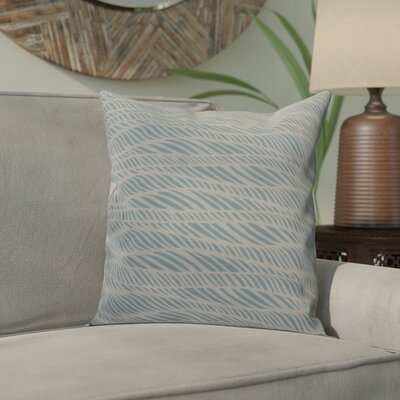Viet Rolling Waves Throw Pillow Size: 26 H x 26 W, Color: Light Blue