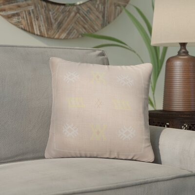 Touete Accent Throw Pillow Color: Pink, Size: 16 x 16