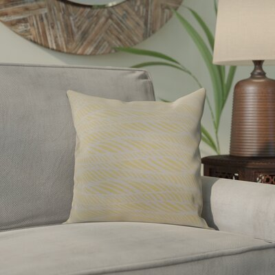 Viet Rolling Waves Indoor/Outdoor Throw Pillow Size: 16 H x 16 W, Color: Yellow