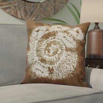 Viet Conch Throw Pillow Size: 18 H x 18 W, Color: Brown