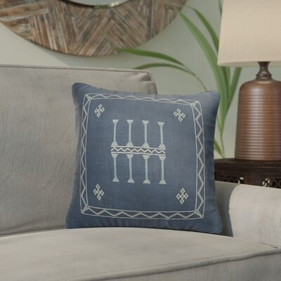 Cristo Accent Throw Pillow Color: Navy, Size: 16 x 16