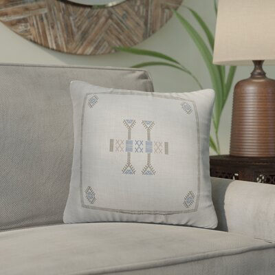 Zoe Kilim Throw Pillow Color: Grey/ Blue, Size: 24 x 24