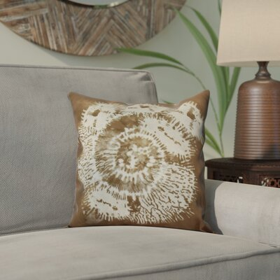 Viet Conch Indoor/Outdoor Throw Pillow Size: 16 H x 16 W, Color: Brown
