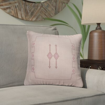 Stellan Throw Pillow Color: Pink, Size: 24'' x 24''