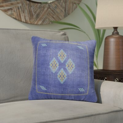 Stellan Kilim Throw Pillow Color: Indigo/ Blue/ Yellow, Size: 16 x 16