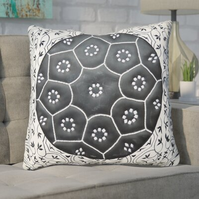Nawrocki Geometric-Floral Throw Pillow
