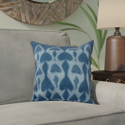 Viet Watermark Throw Pillow Size: 18 H x 18 W, Color: Blue