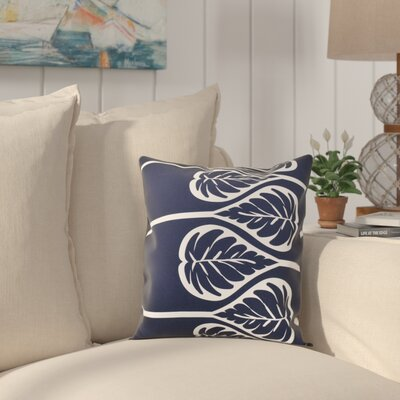 Hilde 2 Print Throw Pillow Size: 16 H x 16 W, Color: Navy Blue
