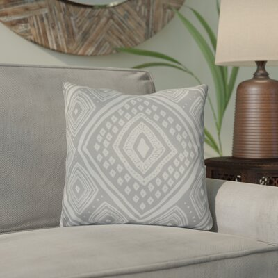 Hieu Throw Pillow Size: 18 H x 18 W x 3 D, Color: Gray