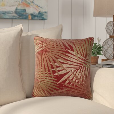 Danae Outdoor Throw Pillow Color: Red