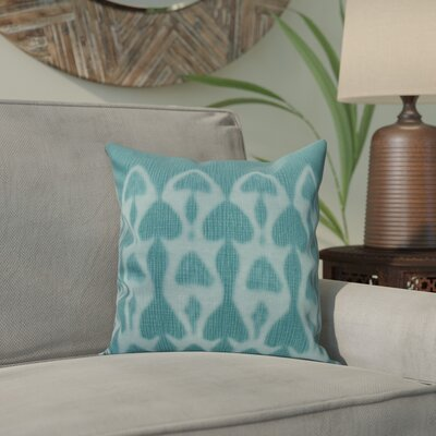 Viet Watermark Throw Pillow Size: 26 H x 26 W, Color: Teal