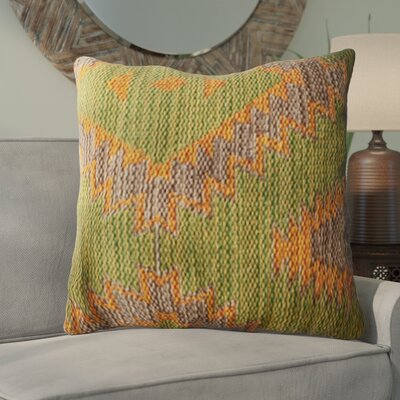 Creole Handwoven Kilim Pillow Cover Size: 18 x 18