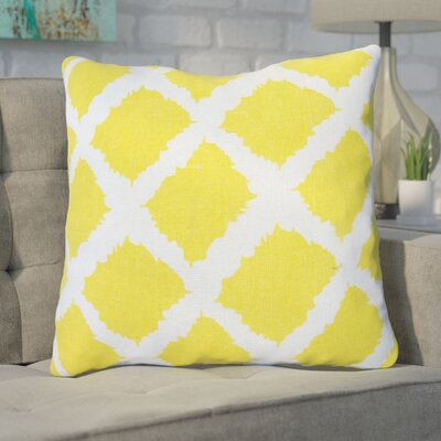 Nebeker Sunflower Print 100% Cotton Throw Pillow