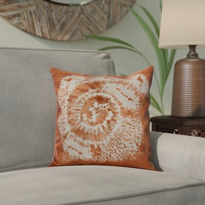 Viet Conch Indoor/Outdoor Throw Pillow Size: 18 H x 18 W, Color: Coral