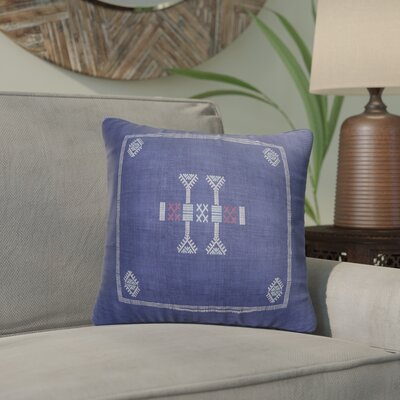 Zoe Kilim Throw Pillow Color: Indigo/ Red, Size: 16 x 16
