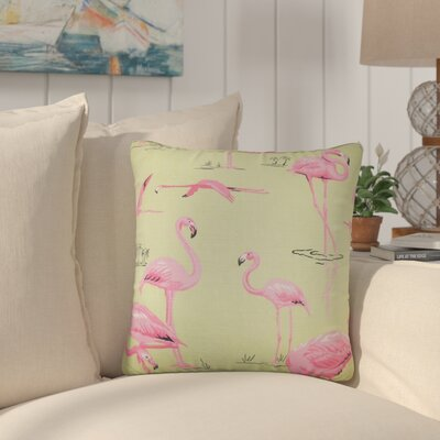 Colleen Animal Print Throw Pillow Cover Size: 18 x 18, Color: Bermuda