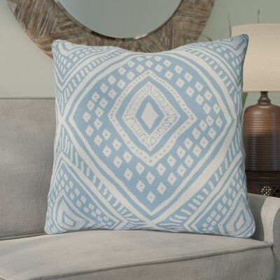 Hieu Square Throw Pillow Size: 16 H x 16 W x 3 D, Color: Light Blue