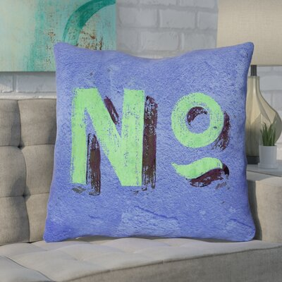 Enciso Graphic Square Wall Euro Pillow Color: Blue/Green