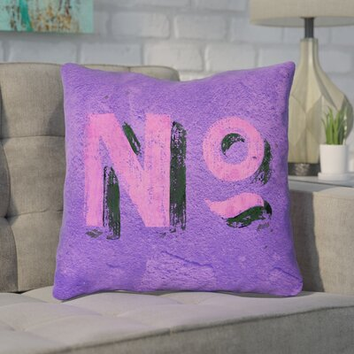 Enciso Graphic Wall Throw Pillow Size: 14 x 14, Color: Purple/Pink