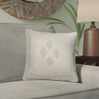 Stellan Kilim Throw Pillow Color: Cream/ Blue, Size: 16 x 16