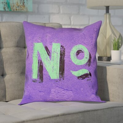 Enciso Graphic Wall Pillow Cover Size: 14 x 14, Color: Purple/Green