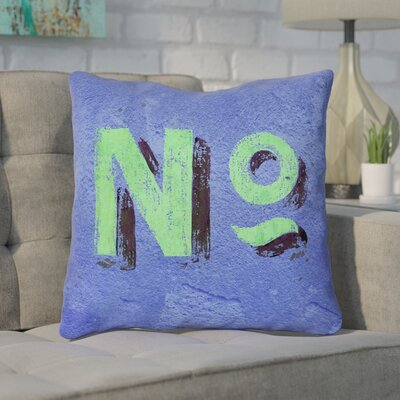Enciso Graphic Square Indoor Wall Throw Pillow Size: 20 x 20, Color: Blue/Green