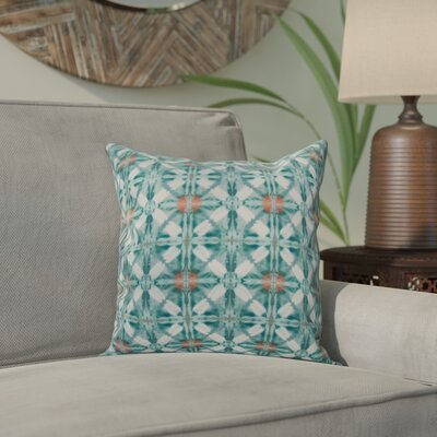Viet Indoor/Outdoor Throw Pillow Size: 18 H x 18 W, Color: Aqua