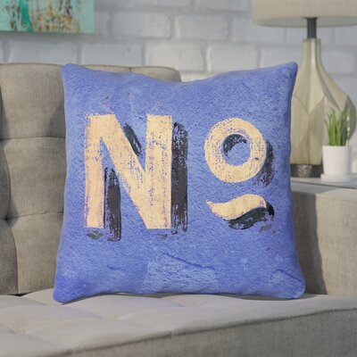 Enciso Graphic Square Indoor Wall Throw Pillow Size: 14 x 14, Color: Blue/Beige