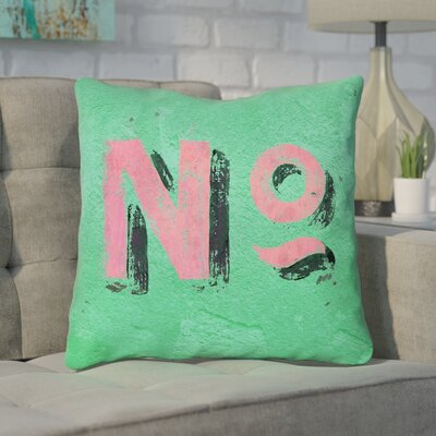 Enciso Graphic Square Indoor Wall Throw Pillow Size: 14 x 14, Color: Green/Pink
