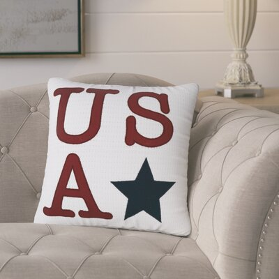 Biscette USA 100% Cotton Throw Pillow