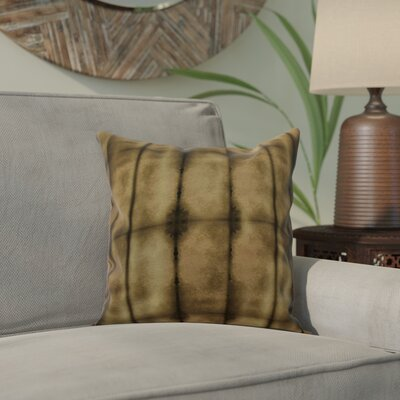 Viet Pool Throw Pillow Size: 16 H x 16 W, Color: Brown