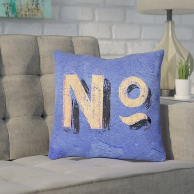 Enciso Graphic Wall Outdoor Pillow Size: 18 x 18, Color: Blue/Beige